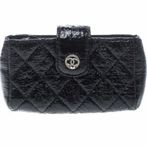 Chanel coated canvas card holder pouch case